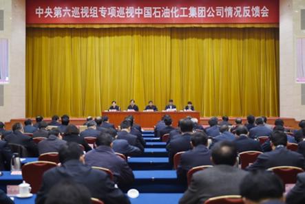 2 月6 日,中央第六巡视组向中国石油化工集团公司反馈专项巡视情况。