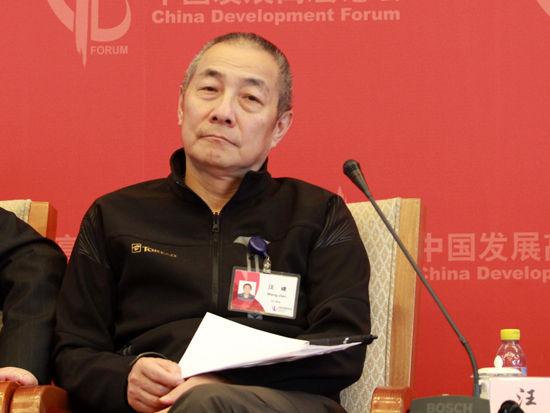 """由国务院发展研究中心主办的""""中国发展高层论坛2015""""于3月21日-23日在北京举行。华大基因董事长汪建出席并演讲。(图片来源:新浪财经 刘海伟 摄)"""