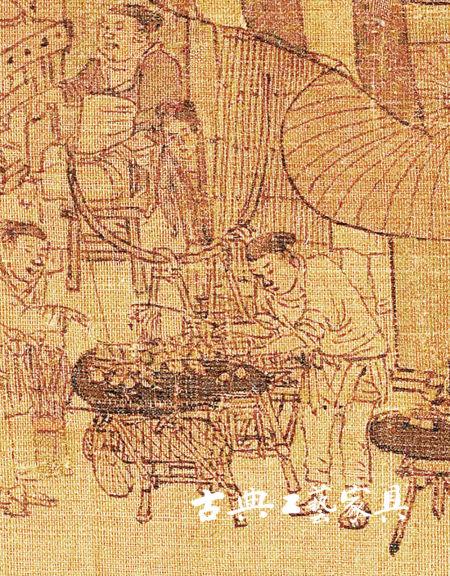 图5 北宋张择端《清明上河图》中的挑桌