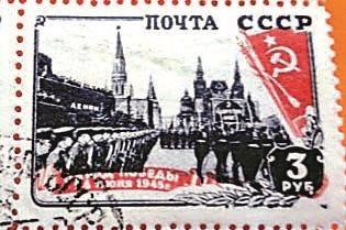 邮票上观赏红场阅兵