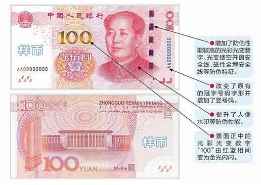 新发行的100元纸币