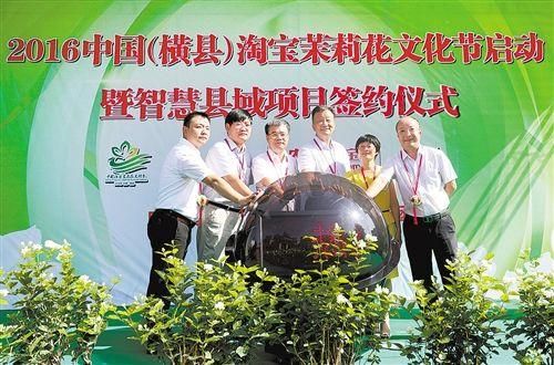 淘宝茉莉花文化节启动。