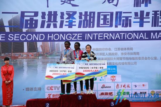洪泽湖国际马拉松比赛获奖