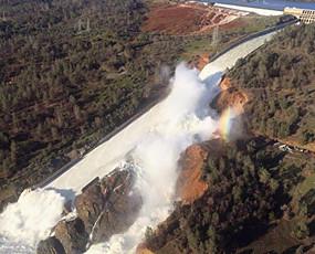 美国最高水坝可能决堤