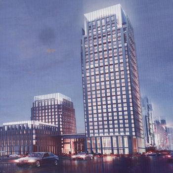 图为广东电网新建办公楼规划效果图。
