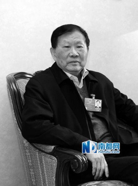 中国工程院院士王梦恕。南都资料图片