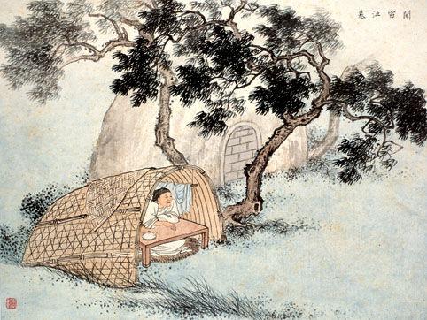 古代二十四孝故事:闻雷泣墓(图)