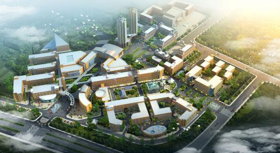 东北亚文化创意科技园规划效果图