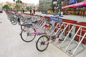 自行车停车位无人看管,留给小偷可乘之机.深圳晚报记者 陆颖 摄图片