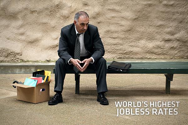 全球失业率最高的十大国家