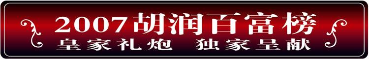 2007胡润百富榜