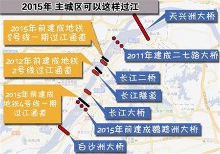 武汉第八座长江大桥开工 2015年将建成通车