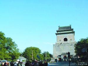 """钟楼与鼓楼:一对""""情侣""""在京城(组图)"""