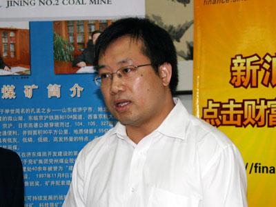 图文:刘孝全接受现场对话