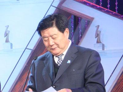 图文:中国中小企业协会会长李子彬开奖