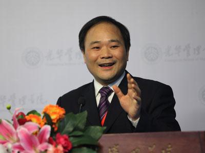 图文:吉利汽车董事长李书福演讲