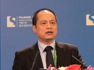 图文:上海浦东新区区长姜�叛萁�