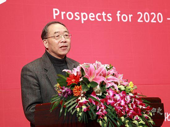 """""""第八届中国文化产业新年论坛""""于2011年1月8日-9日在北京召开。上图为北京大学文化产业研究院院长叶朗。(图片来源:新浪财经 梁斌 摄)"""