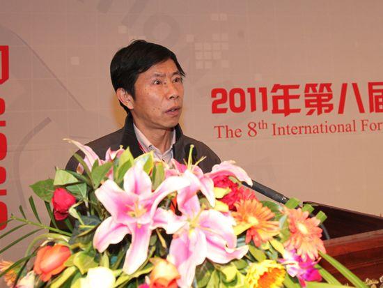 """""""第八届中国文化产业新年论坛""""于2011年1月8日-9日在北京召开。上图为云南省社会科学院研究员、文化研究中心主任王亚南。(资料图片)"""