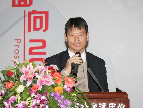 """""""第八届中国文化产业新年论坛""""于2011年1月8日-9日在北京召开。上图为台北教育大学人文艺术学院院长林炎旦。(资料图片)"""