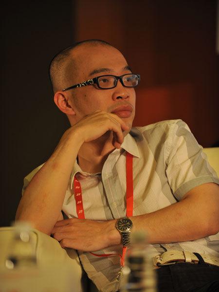 北京磨铁图书有限公司执行总裁张凯峰(新浪财经 陈鑫 摄)