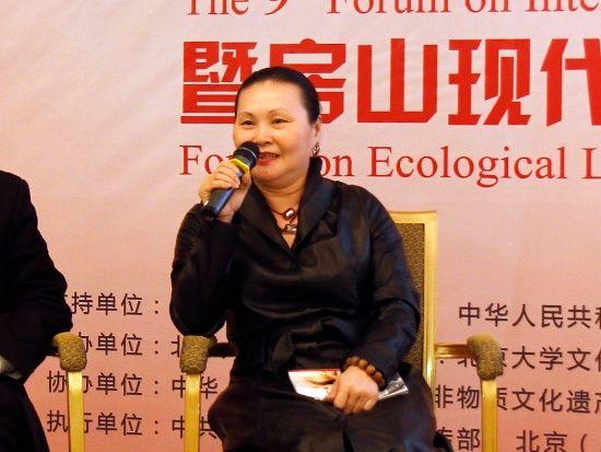 台湾汉唐乐府南音古乐舞团创始人陈美娥(新浪财经 胡秀岩 摄)