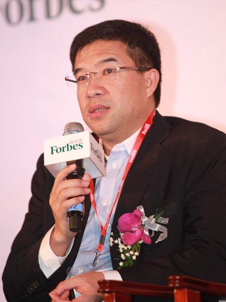 """2012""""福布斯中国潜力企业投资论坛""""及颁奖典礼于2012年3月15日在北京举行。上图为东方富海董事长陈玮。(图片来源:新浪财经 梁斌 摄)"""