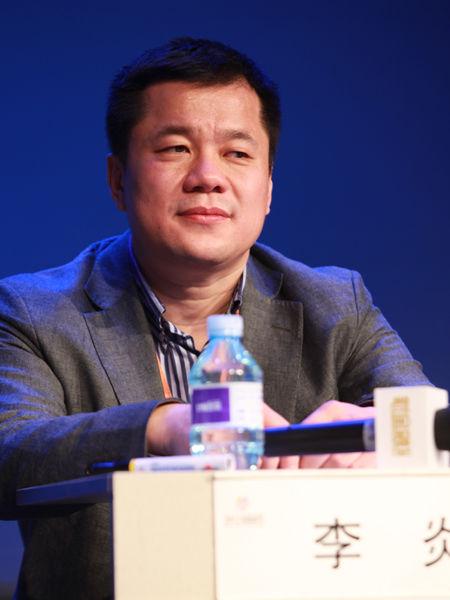 """""""2012中国技术商业领袖峰会""""于2012年11月16-17日在北京举行。上图为北京上品商业发展有限公司董事长李炎。(图片来源:新浪财经 梁斌 摄)"""