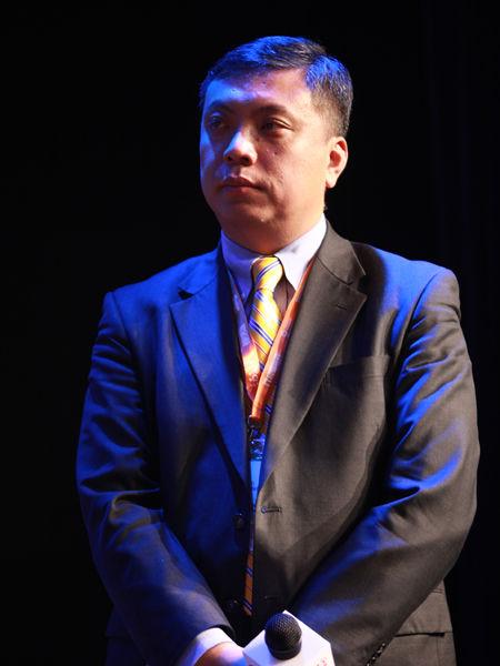 """""""2012中国技术商业领袖峰会""""于2012年11月16-17日在北京举行。上图为中国国际技术智力合作公司中智外企服务分公司总经理程功。(图片来源:新浪财经 梁斌 摄)"""