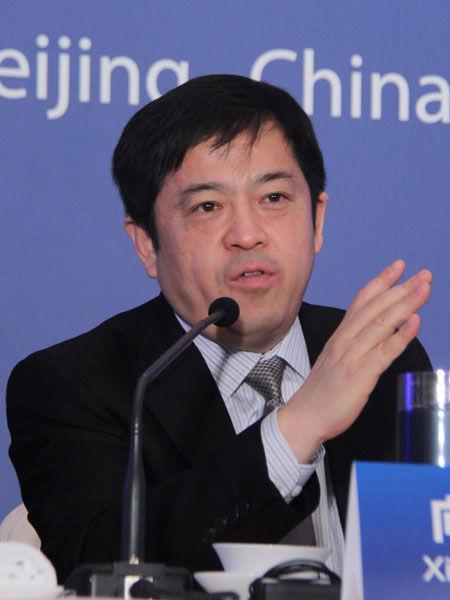 2013年3月2日,三一集团美国风电项目诉讼案第一次庭审情况媒体说明会在北京举行。图为三一集团董事向文波。