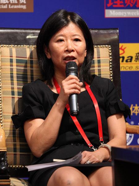 """""""2013中国金融论坛""""于2013年5月21日-23日在北京召开。上图为SVB资本中国董事总经理叶慧明。(图片来源:新浪财经)"""