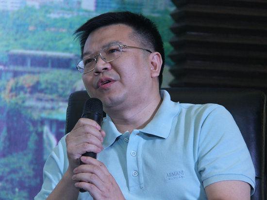 """""""中国文化名酒复兴论坛:穿越文明 对话未来""""于10月6日在武汉举办。上图为重庆诗仙太白酒业集团有限公司执行董事、党委书记、总经理陈红兵。"""