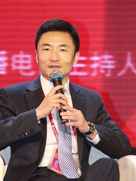 以上图片为中国平安保险公司总经理任汇川。(图片来源:新浪财经 摄影:韩锦星)