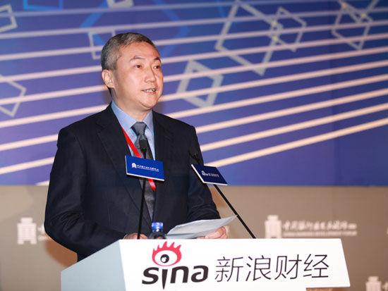 """""""2015银行业发展论坛""""于7月9日在北京举行。上图为浦发银行行长刘信义。(图片来源:新浪财经)"""