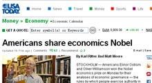 威廉姆森:对获得诺贝尔经济学奖感到满足