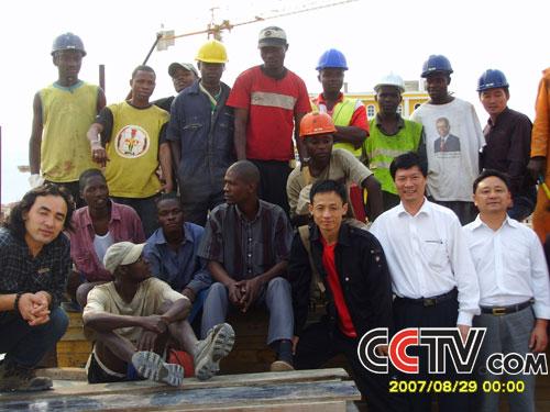 在安哥拉建筑工地上(图)