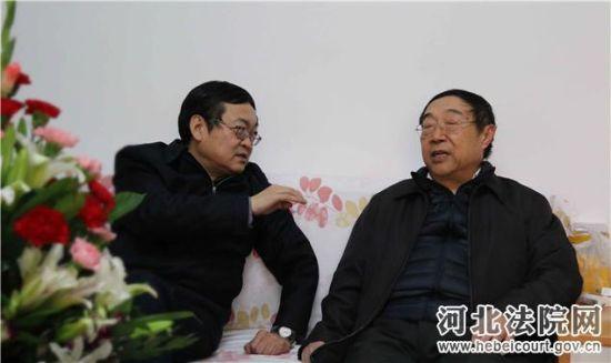 河北高院院长卫彦明春节前夕看望慰问离退休老领导