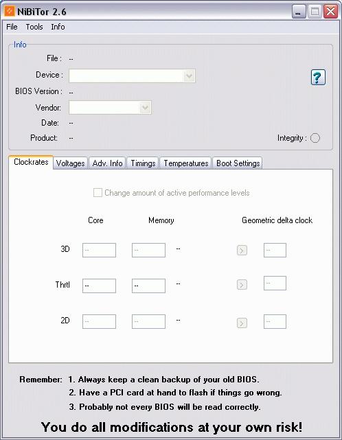 显卡BIOS编辑器 NVIDIA BIOS Editor (NiBiTor) 6.06