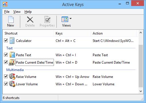 Active Keys 2.5