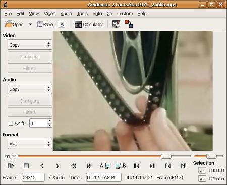 免费视频编辑器 Avidemux 2.6.20
