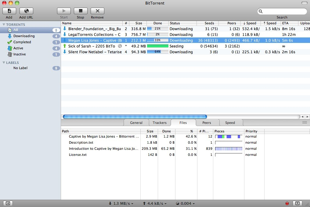 BitTorrent for Mac 7.4.1.30291