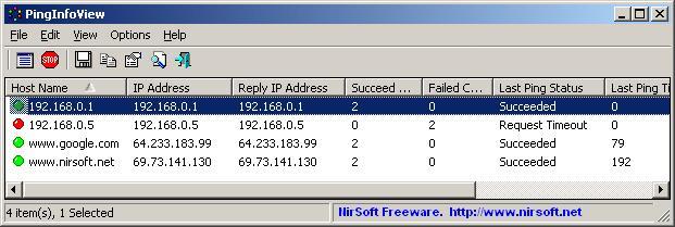 Ping增强工具 PingInfoView 1.60