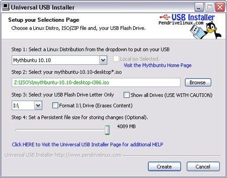 U盘Linux安装器 Universal USB Installer 1.9.7.8