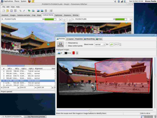 全景图像制作软件 Hugin for Linux 2012.0