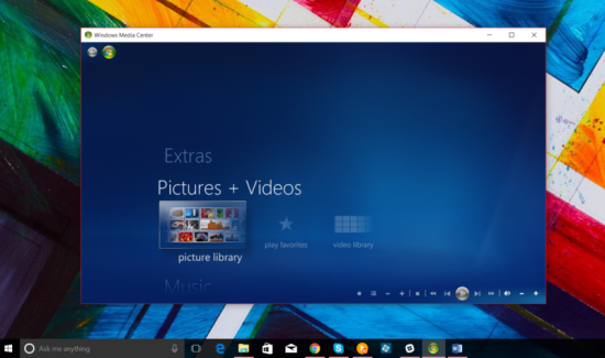 Windows Media Center for Windows 10 8.81