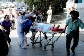 烧伤乘客被紧急转往医院