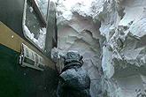 内蒙部分铁路积雪厚达3.1米