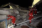 中国国际救援队展开救援行动