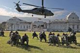 大批美军地面部队进入海地