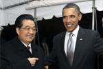 奥巴马迎接胡锦涛